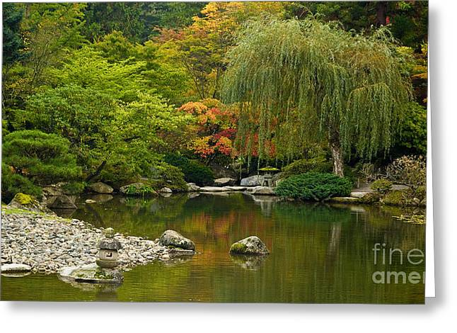 Japanese Gardens Greeting Card by Mike Reid
