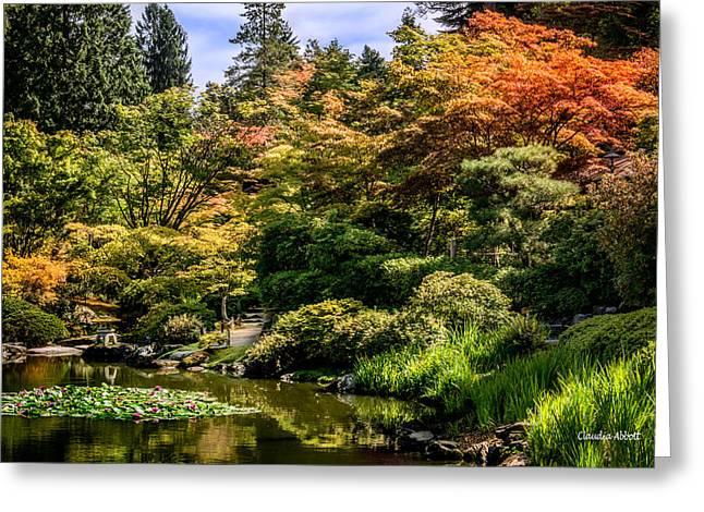 Greeting Card featuring the photograph Japanese Gardens Seattle by Claudia Abbott