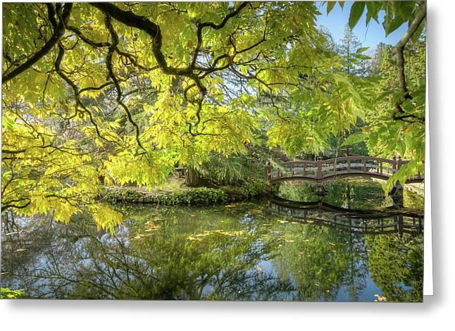 Japanese Gardens, Victoria Greeting Card