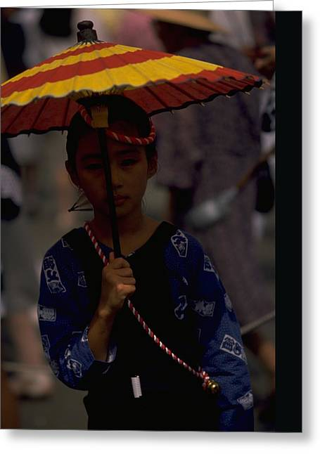 Japanese Girl Greeting Card by Travel Pics