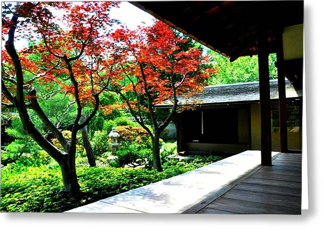 Japanese House Greeting Card by Andrew Dinh