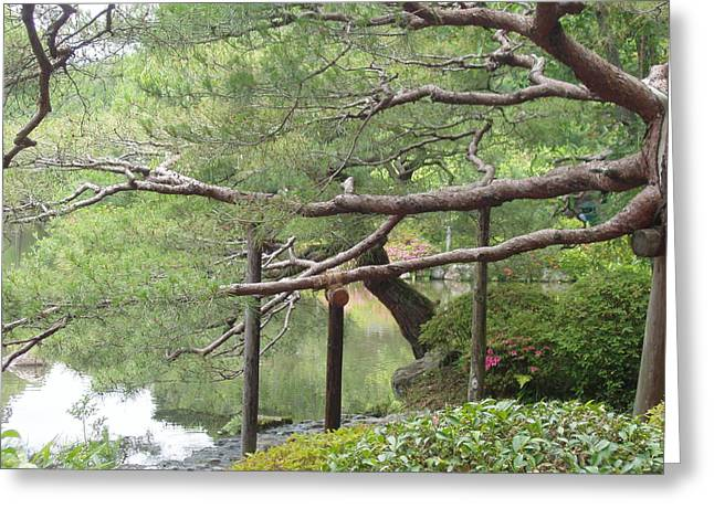 Japanese Landscape Viii Greeting Card by Wendy Uvino