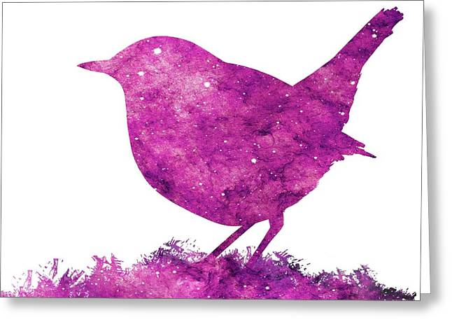 Japanese Robin Bird Greeting Card