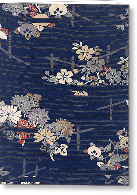 Japanese morning glory greeting cards fine art america japanese style morning glory and flower modern interior art painting greeting card m4hsunfo