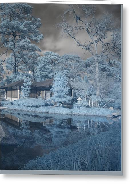 Greeting Card featuring the photograph Japanese Tea Garden Infrared Right by Joshua House