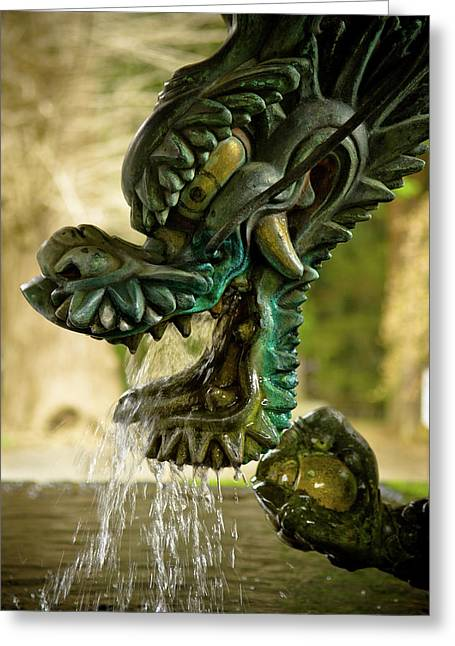 Dragon Greeting Cards - Japanese Water Dragon Greeting Card by Sebastian Musial