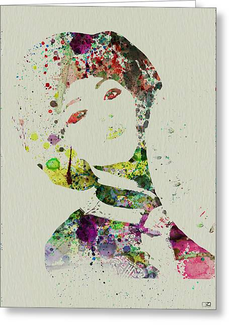 Japanese Woman Greeting Card by Naxart Studio