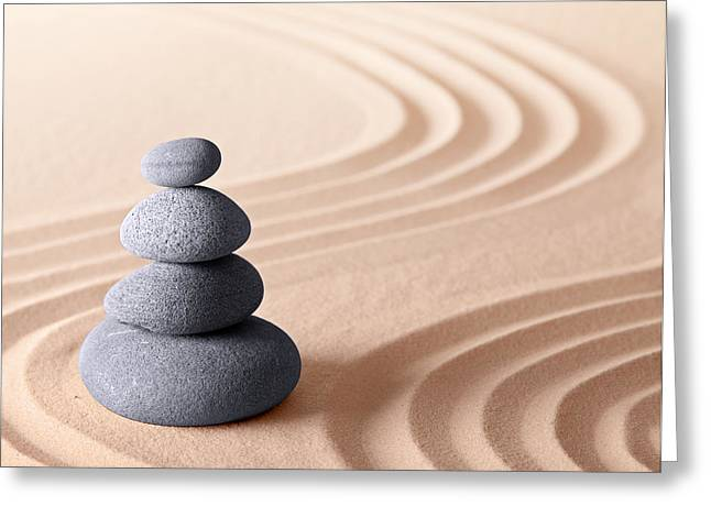 Japanese Zen Meditation Garden Greeting Card