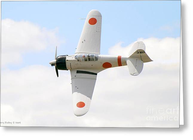 Greeting Card featuring the photograph Japanese Zero by Larry Keahey