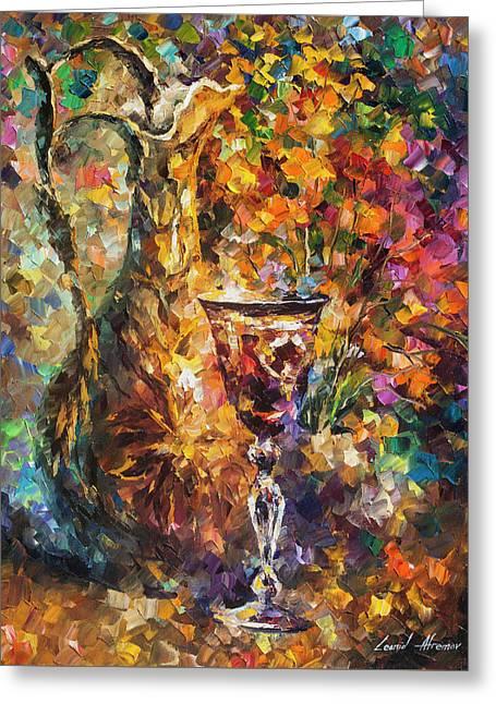 Jar Of Wine Greeting Card