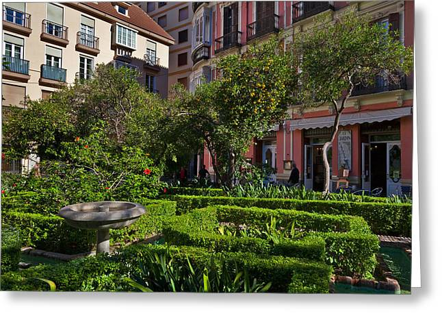 Jarden Cafetaria Bside The Garden Greeting Card by Panoramic Images