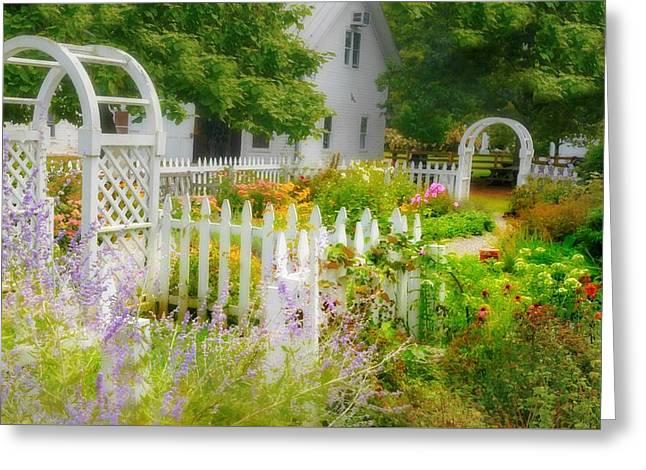 Jardin A La Ferme Greeting Card