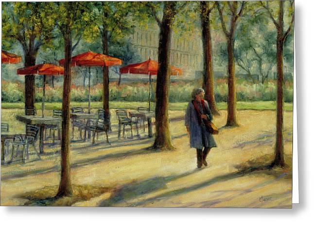 Jardin Des Tuileries In October Greeting Card by Jill Musser