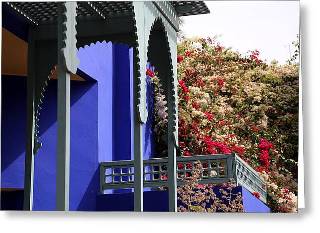 Greeting Card featuring the photograph Jardin Majorelle 3 by Andrew Fare