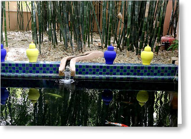 Greeting Card featuring the photograph Jardin Majorelle by Andrew Fare