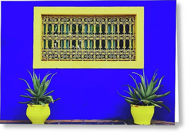Jardin Majorelle, Marakesh Greeting Card by Happy Home Artistry