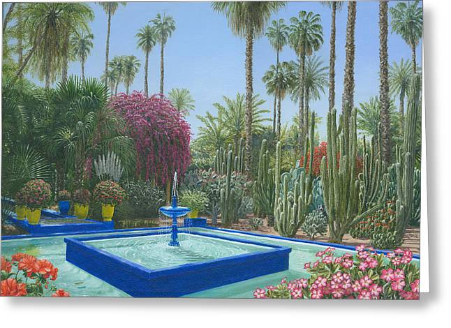 Jardin Majorelle Greeting Card