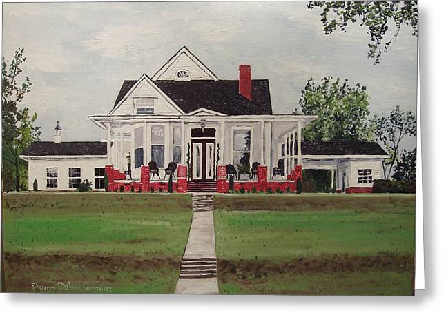 Jarrard House Greeting Card by Sharon  De Vore
