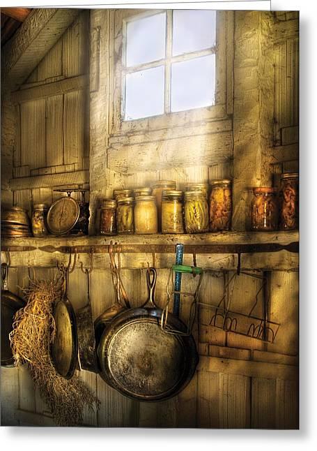 Jars - Winter Preserves  Greeting Card by Mike Savad