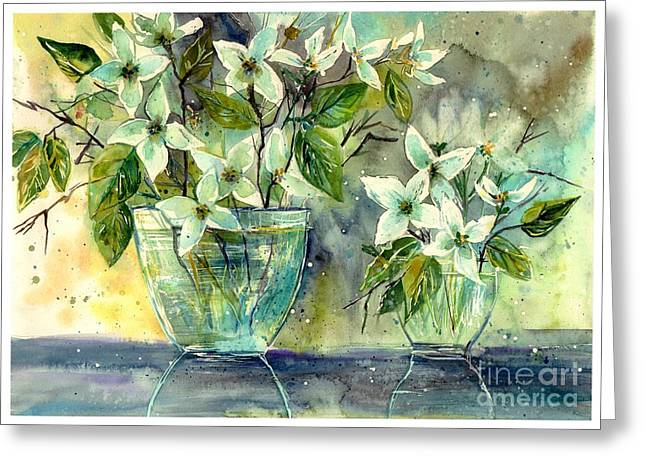 Jasmine In Glass Greeting Card