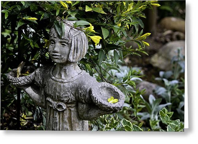 Garden Statuary Greeting Cards - Jasmine Statue Greeting Card by Teresa Mucha