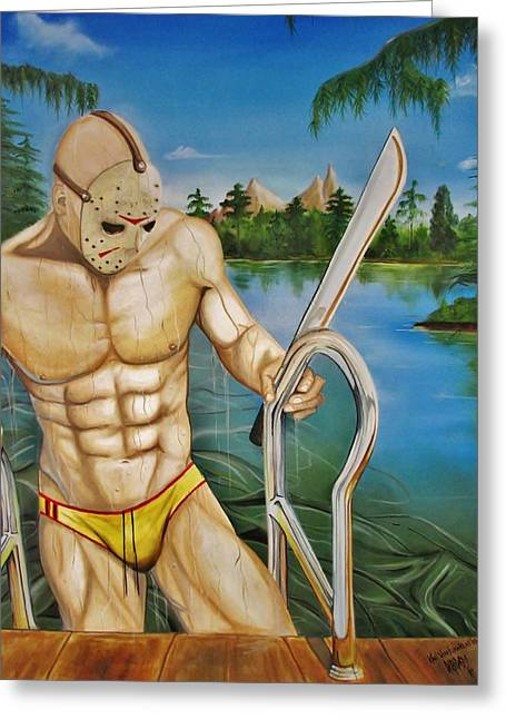 Jason    Greeting Card by Karl Von Frankenstein