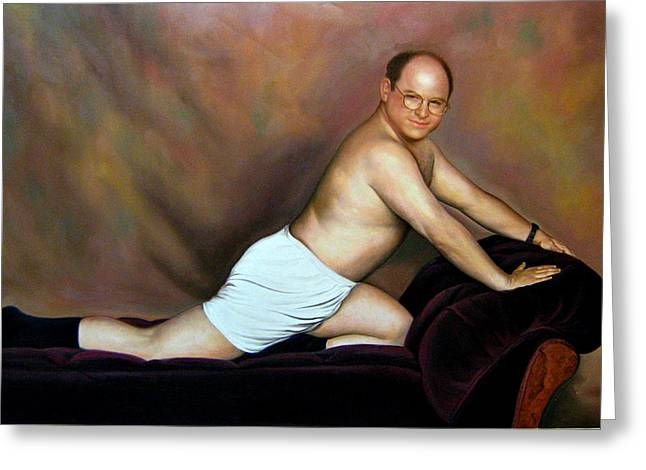 Jason Alexander As George Costanza Greeting Card