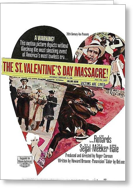 Jason Robards As Al Capone Theatrical Poster The St. Valentines Day Massacre 1967  Greeting Card by David Lee Guss