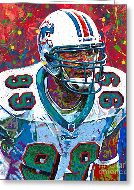 Jason Taylor Greeting Card by Maria Arango