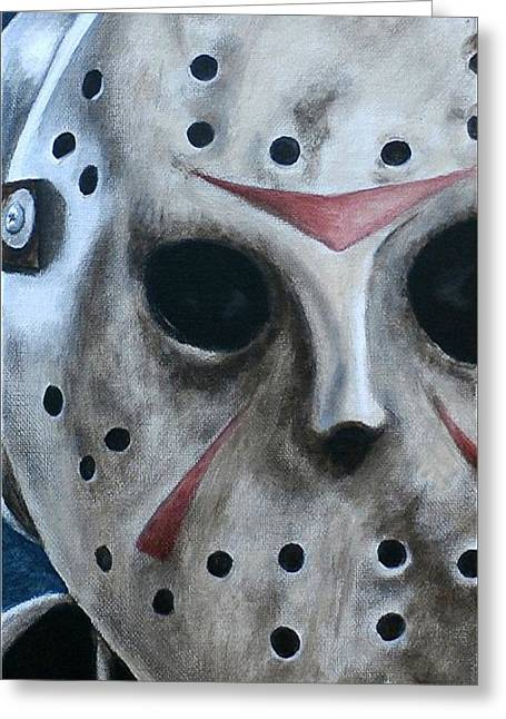 Jason Up Close And Personal  Greeting Card by Al  Molina