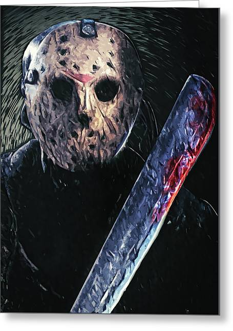Jason Voorhees Greeting Card
