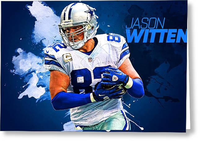 Jason Witten Greeting Card by Semih Yurdabak