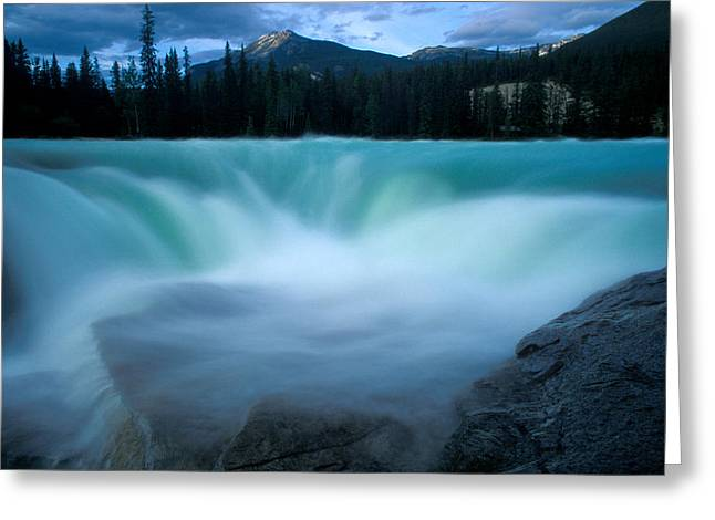 Jasper - Athabasca Falls 2 Greeting Card by Terry Elniski