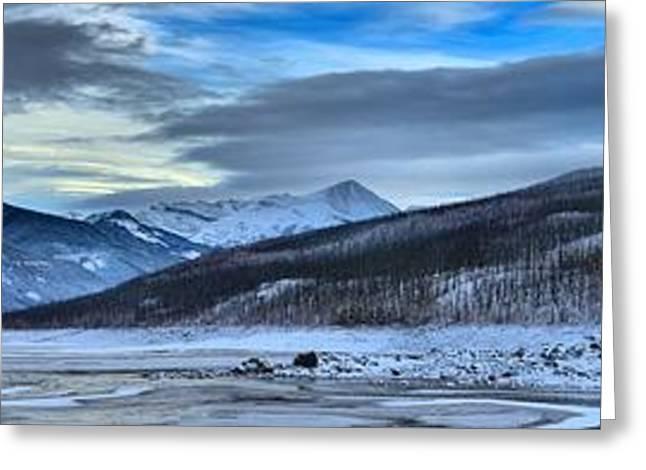 Jasper Medicine Lake Winter Landscape Greeting Card