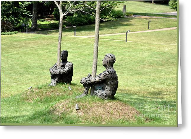 Jaume Plensa -the Heart Of Trees -2 Greeting Card by Wanda-Lynn Searles