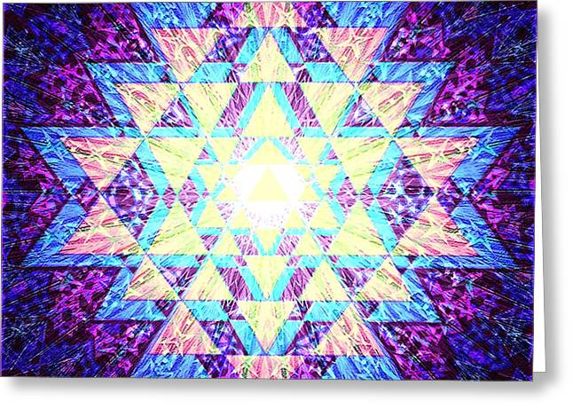Sacred Digital Greeting Cards - Jaunty - Align Brilliantly Greeting Card by Clare Goodwin