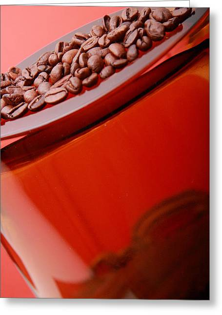 Java In Red Greeting Card by Lucas Boyd