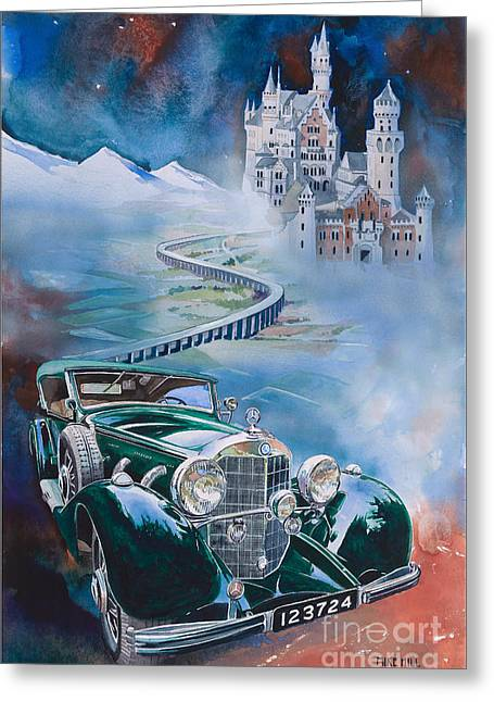 Jawohl Mercedes 500k Greeting Card by Mike Hill