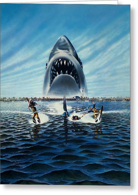 Jaws 3 1983 Greeting Card