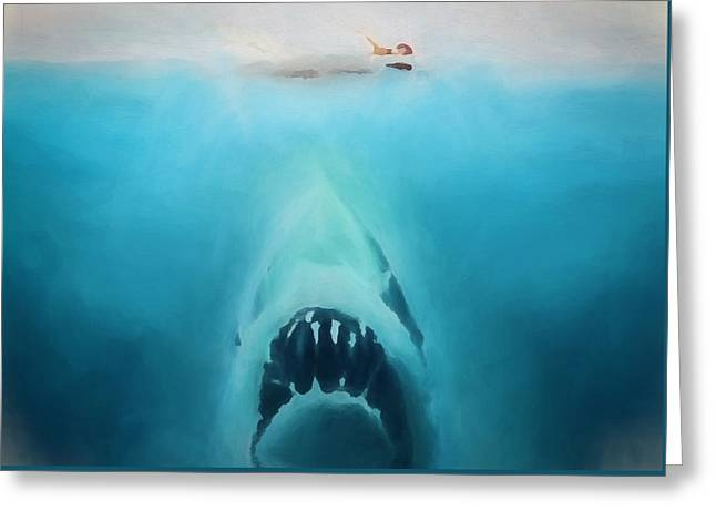 Jaws Greeting Card by Dan Sproul