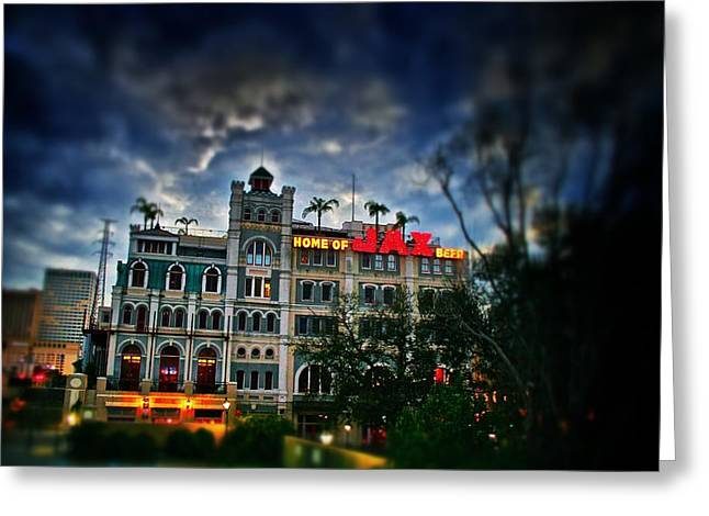 Greeting Card featuring the photograph Jax Brewery  by Jim Albritton