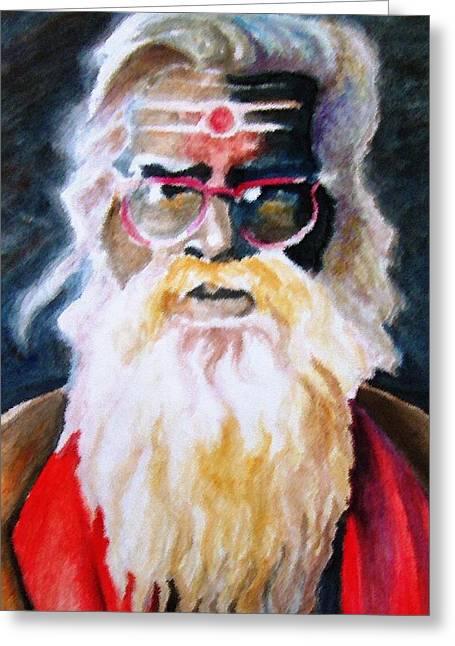 Jay Ganesh Baba Greeting Card by Claudio  Fiori