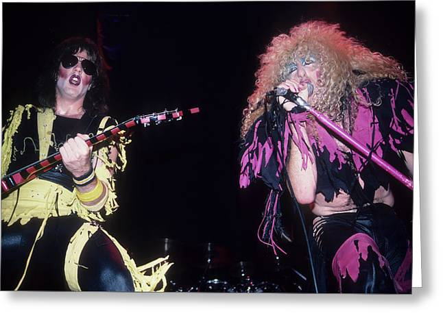 Jay Jay French And Dee Snider Greeting Card