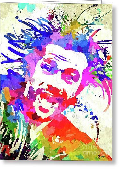 Jay Kay Jamiroquai Greeting Card by Daniel Janda