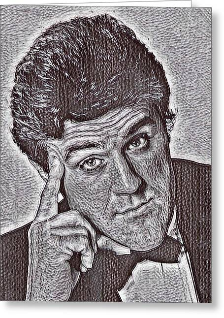 Jay Leno Art Greeting Card by Pd
