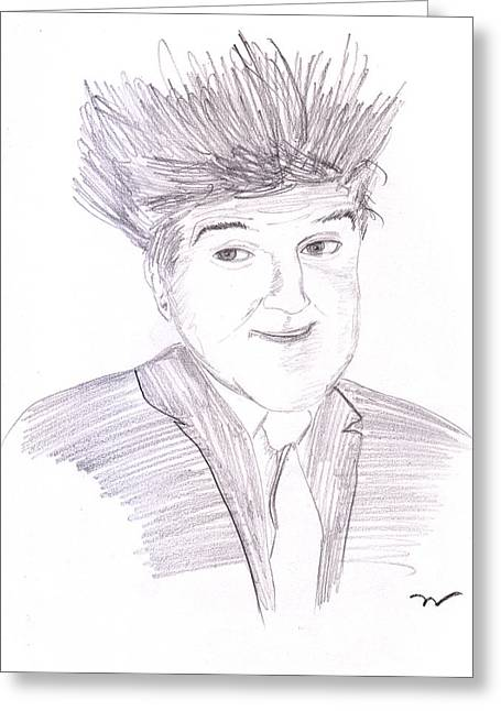 Jay Leno Hair Day Greeting Card by M Valeriano