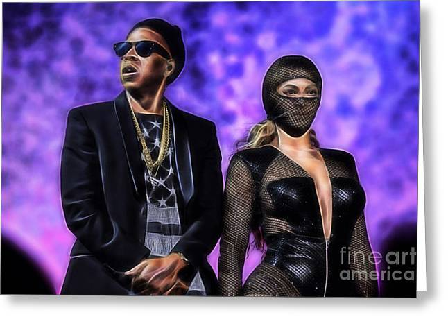 Jay Z And Beyonce Collection Greeting Card