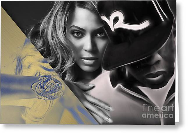 Jay Z Beyonce Collection Greeting Card