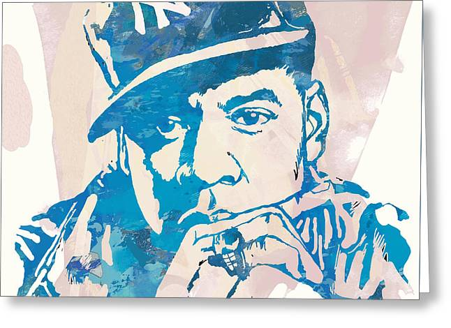 Jay-z  Etching Pop Art Poster Greeting Card