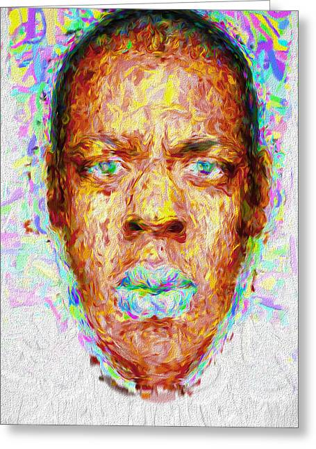 Jay Z Painted Digitally 2 Greeting Card